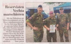 Reservisten Vechta maschieren 14.07.2013