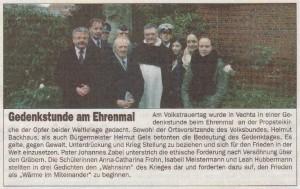 Gedenkstunde am Ehrenmal - SOB 15.12.2013