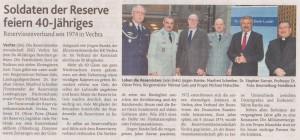 Soldaten der Reserve feiern 40-Jähriges OV 14.01.2014-2
