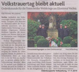 2014.11.17 OV Volkstrauertag bleibt aktuell